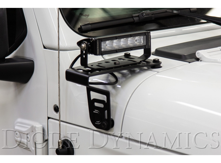 NEW! Cowl Mount LED Brackets for 2018-2019 Jeep JL Wrangler