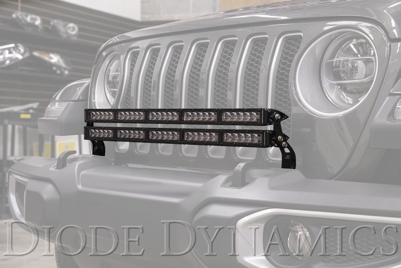 2018 2021 Jeep Jl Wrangler Bumper Led Light Bar Kit