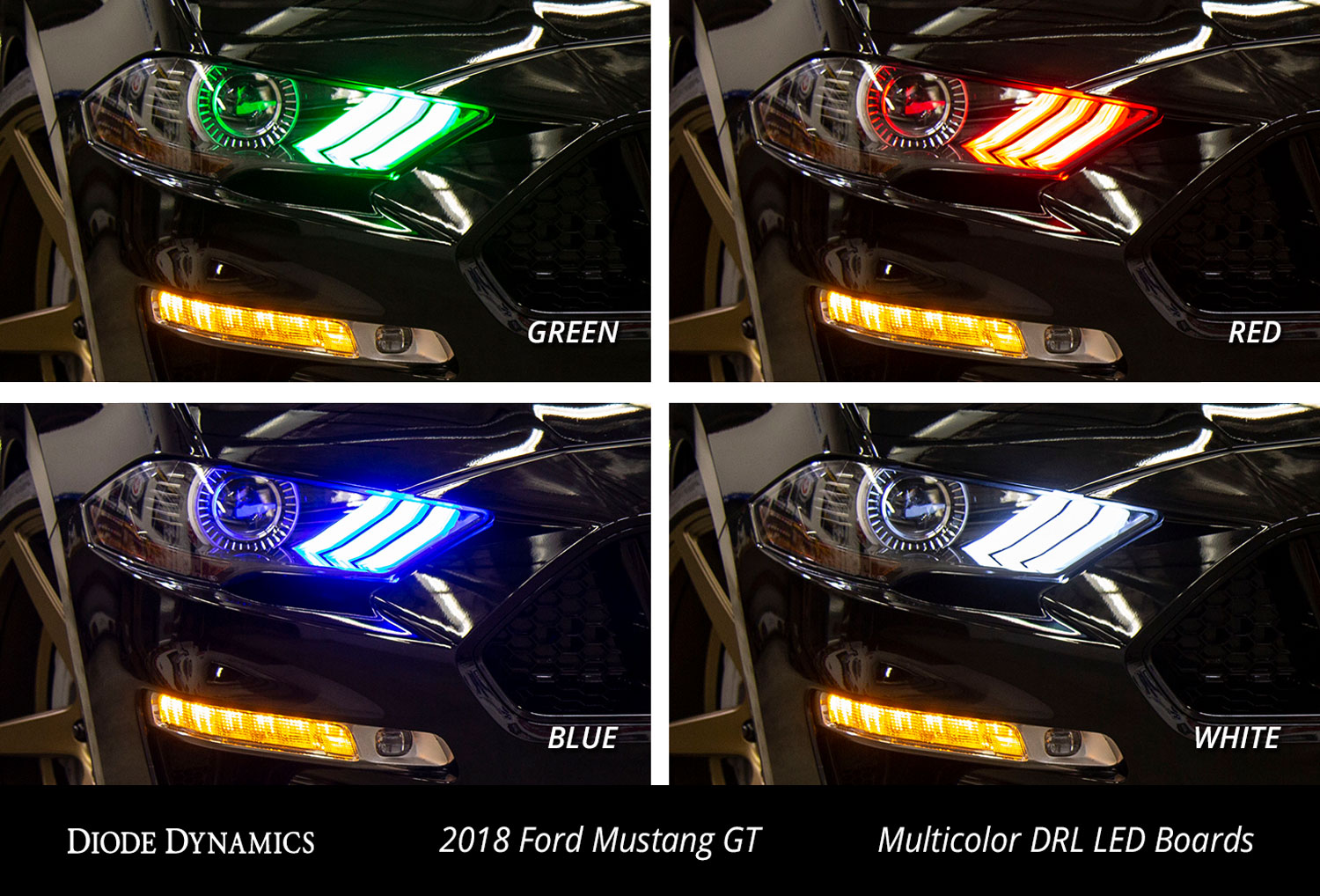 multicolor led boards for the 2018 2019 ford mustang 2018 2019 ford mustang